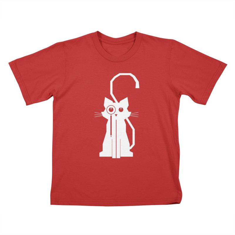 Smart Cat Kids T-Shirt by udegbunamtbj's Artist Shop