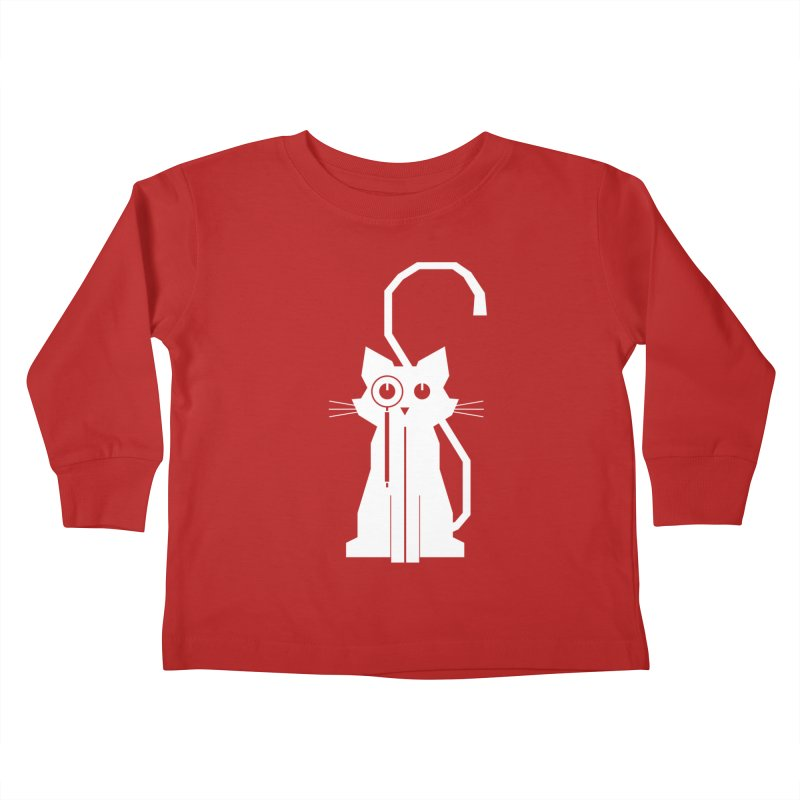 Smart Cat Kids Toddler Longsleeve T-Shirt by udegbunamtbj's Artist Shop
