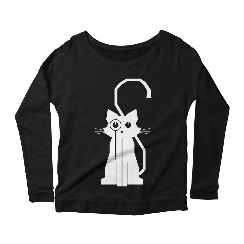 Smart Cat Women's Longsleeve Scoopneck  by udegbunamtbj's Artist Shop