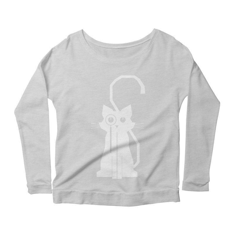 Smart Cat Women's Longsleeve Scoopneck  by udegbunamtbj's Artist Shop