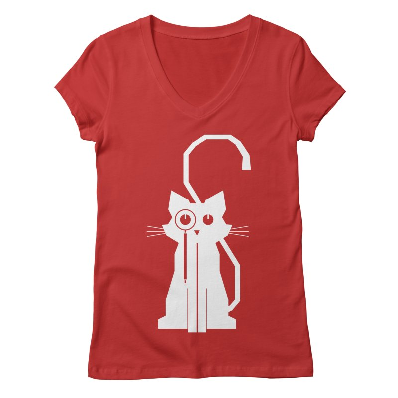 Smart Cat Women's V-Neck by udegbunamtbj's Artist Shop
