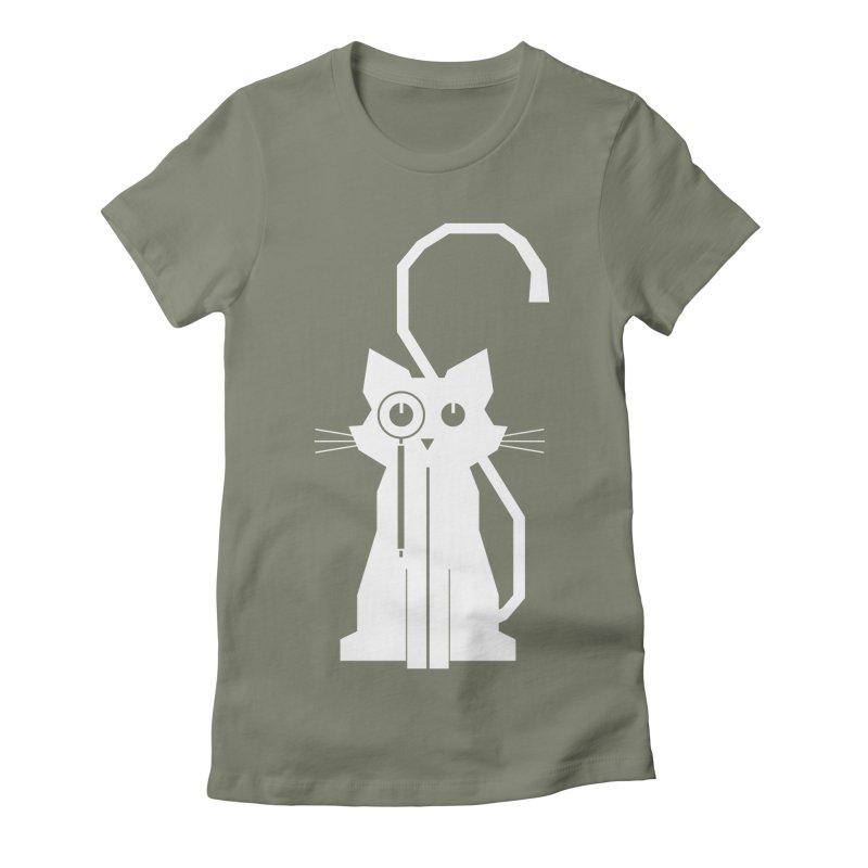 Smart Cat Women's Fitted T-Shirt by udegbunamtbj's Artist Shop