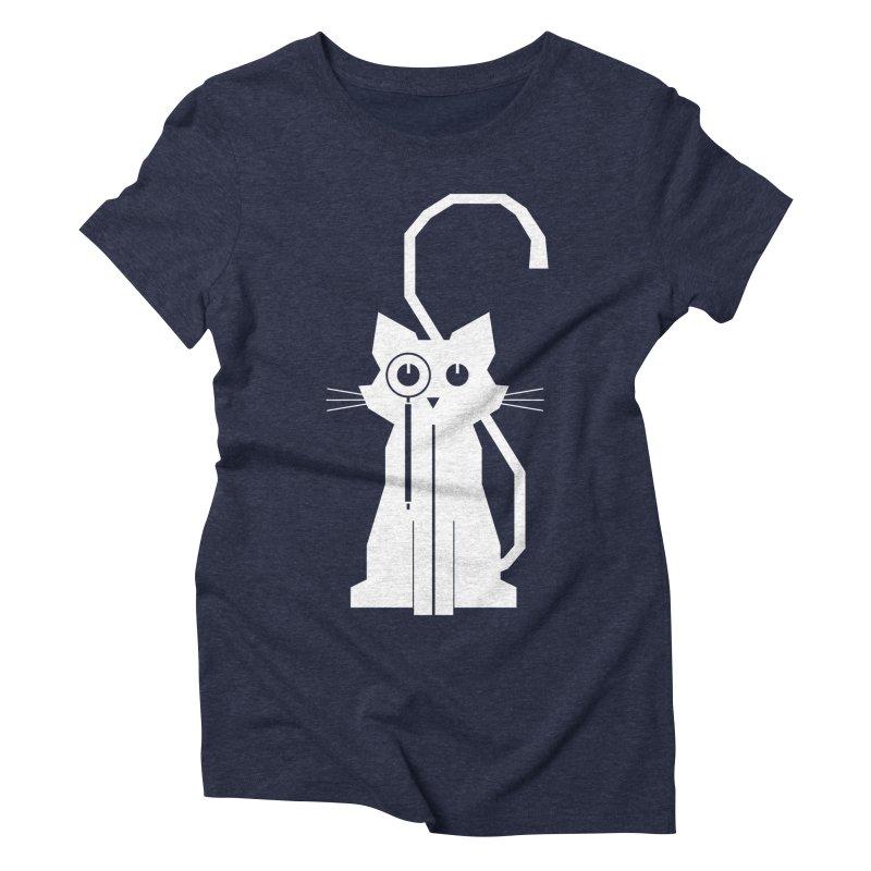 Smart Cat Women's Triblend T-Shirt by udegbunamtbj's Artist Shop
