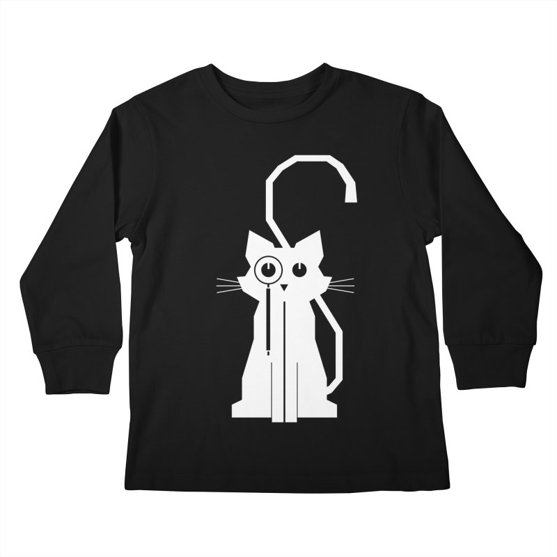 Smart Cat Kids Longsleeve T-Shirt by udegbunamtbj's Artist Shop