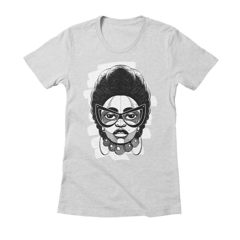 Indigo Women's Fitted T-Shirt by udegbunamtbj's Artist Shop