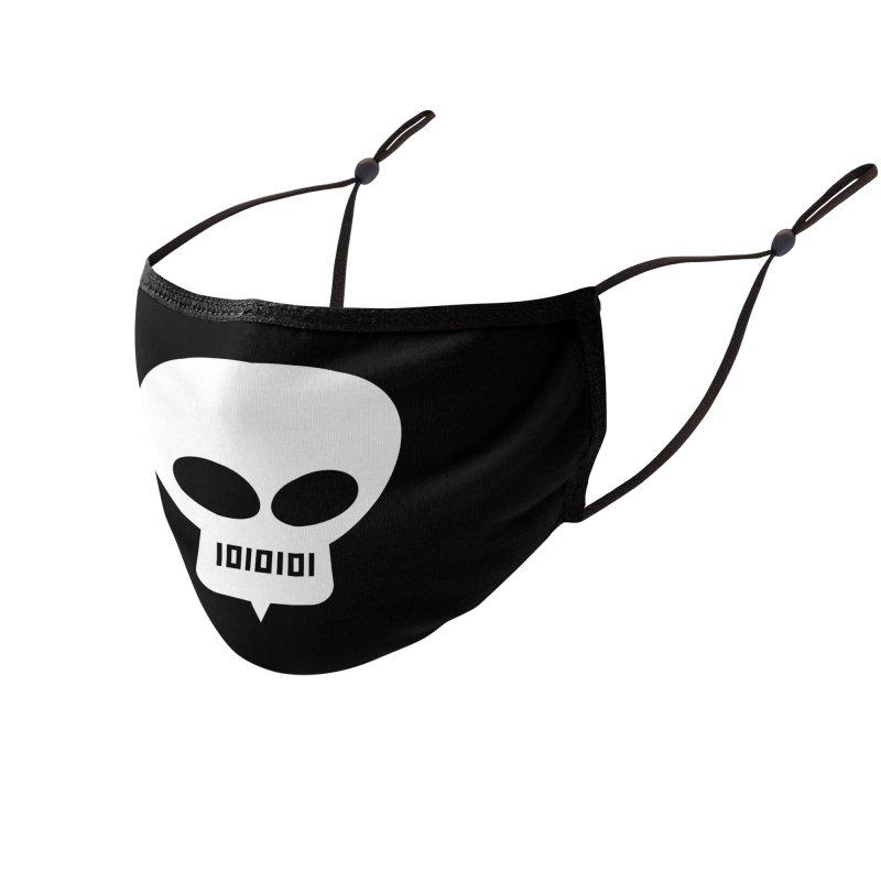 Ugress Logo (White) Accessories Face Mask by Ugress Merchandise