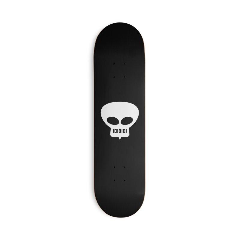 Ugress Logo (White) Accessories Skateboard by Ugress Merchandise