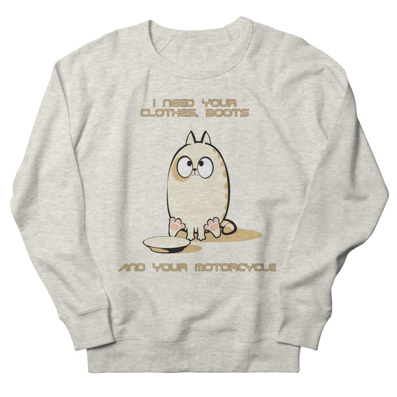 Terminator Cat Men's Sweatshirt by LookAway Design Shop
