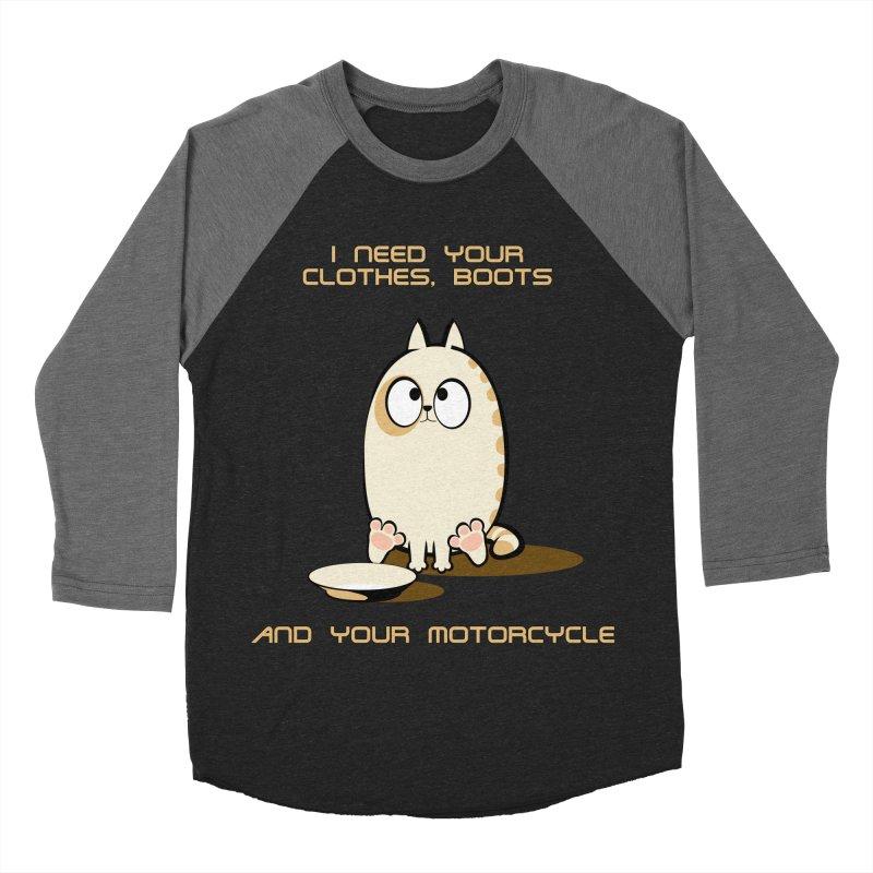 Terminator Cat Men's Baseball Triblend T-Shirt by LookAway Design Shop