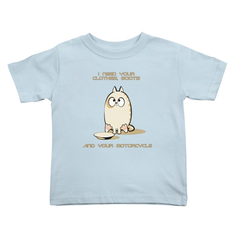 Terminator Cat Kids Toddler T-Shirt by LookAway Design Shop