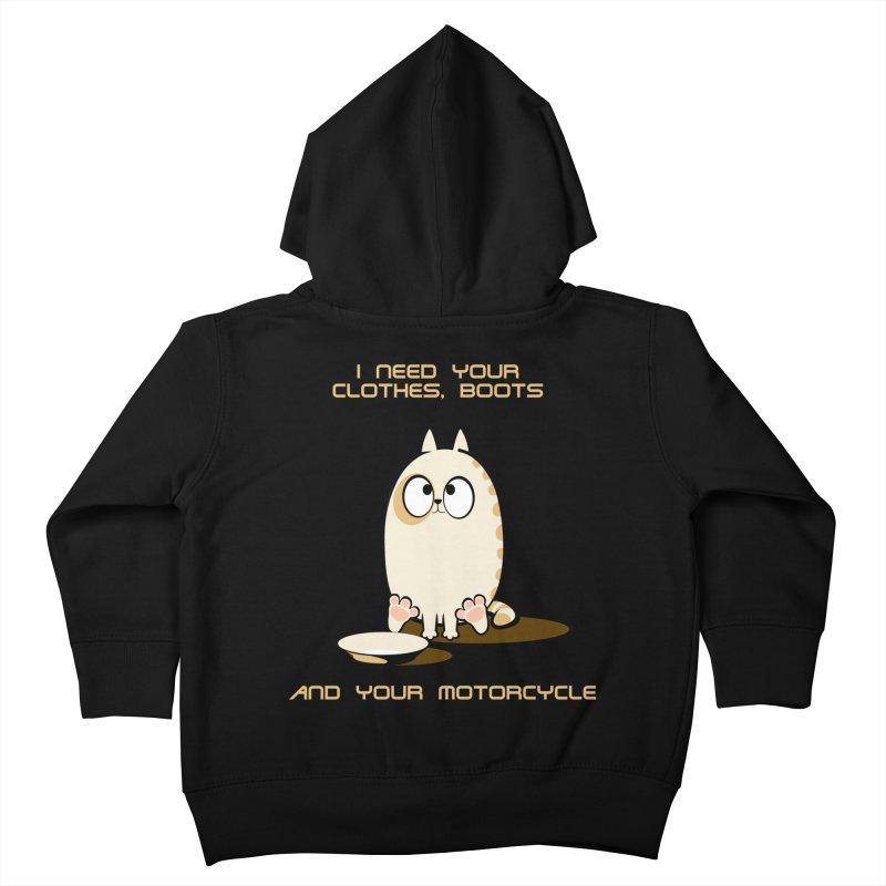 Terminator Cat Kids Toddler Zip-Up Hoody by LookAway Design Shop