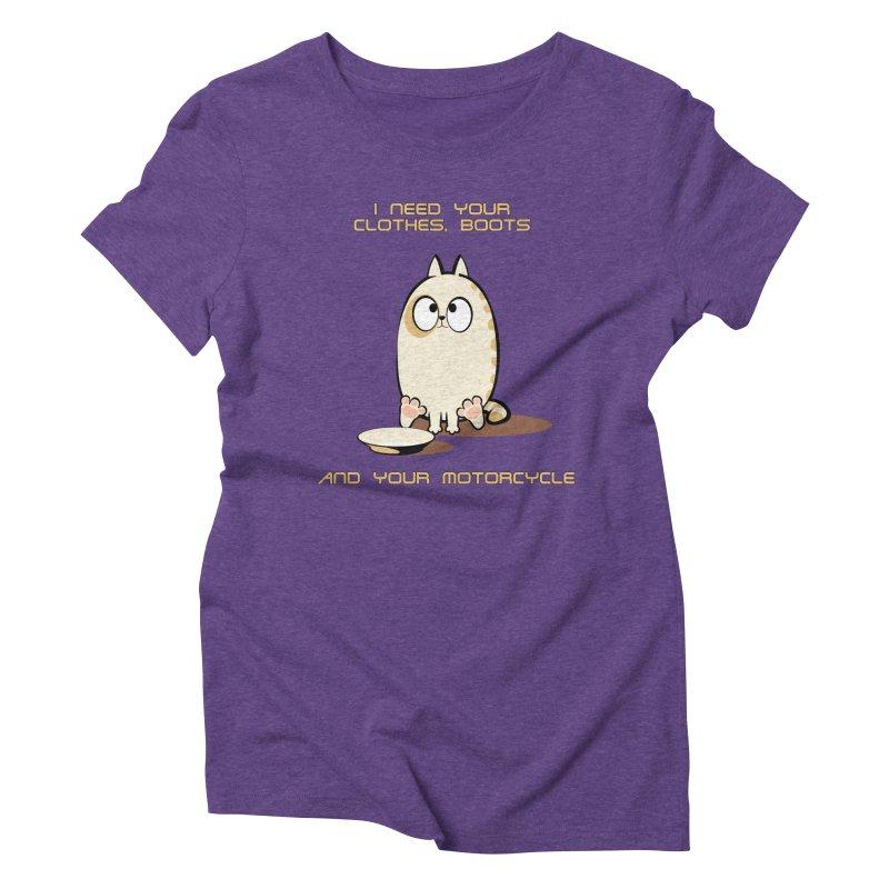 Terminator Cat Women's Triblend T-shirt by LookAway Design Shop