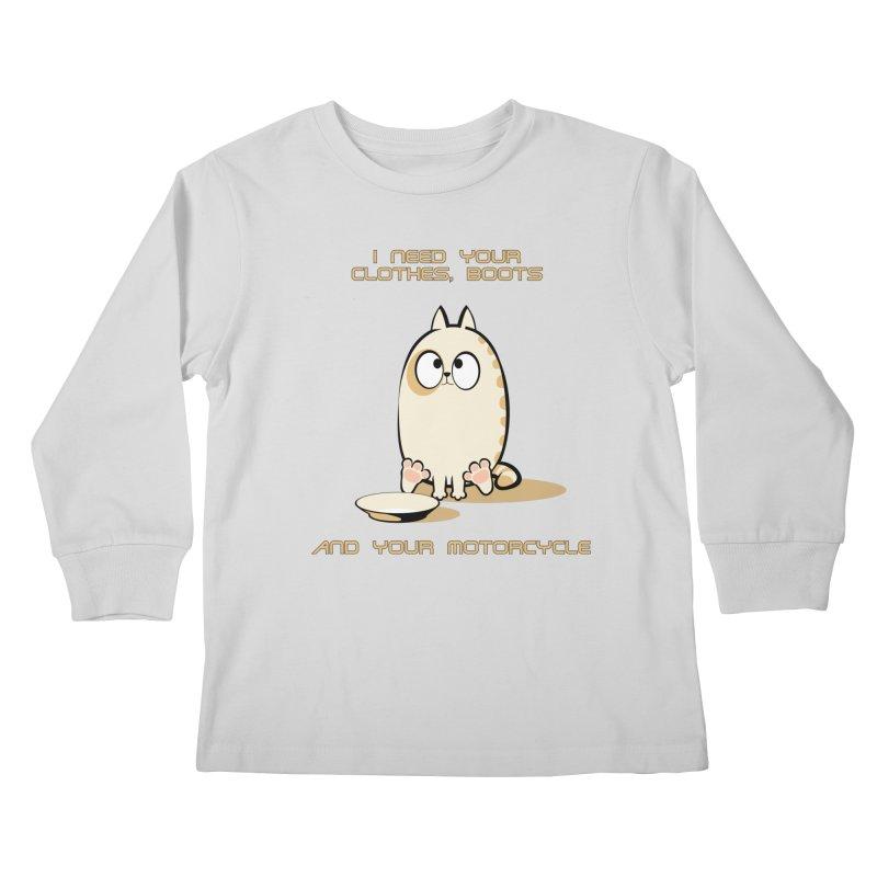 Terminator Cat Kids Longsleeve T-Shirt by LookAway Design Shop