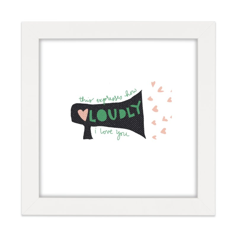 Loving You Megaphone Home Framed Fine Art Print by The Uh Ohs Fantastic Swag Spot of Legends And Yon