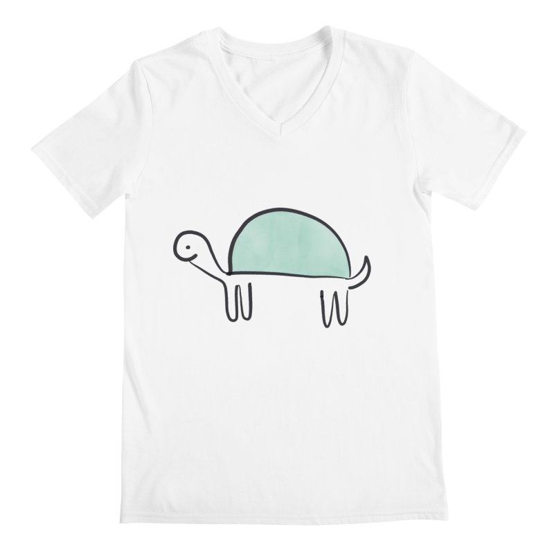 Turtle Time Men's V-Neck by The Uh Ohs Fantastic Swag Spot of Legends And Yon