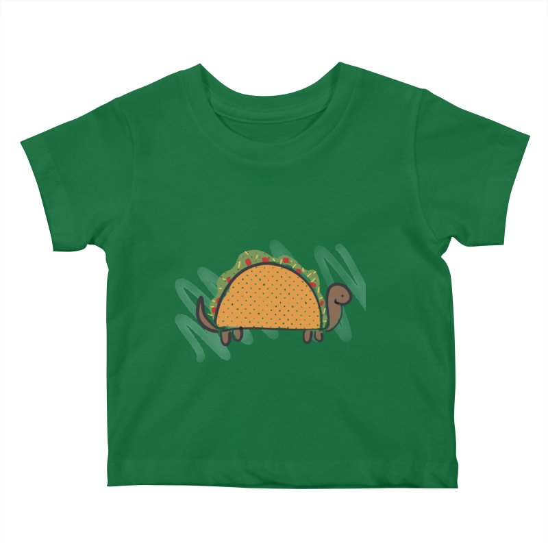 Taco Turtle Kids Baby T-Shirt by The Uh Ohs Fantastic Swag Spot of Legends And Yon
