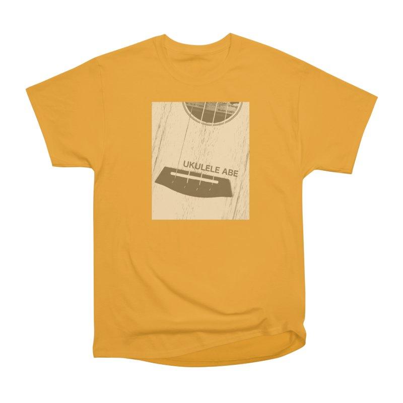 Ukulele close up Men's Heavyweight T-Shirt by ukuleleabe's Artist Shop