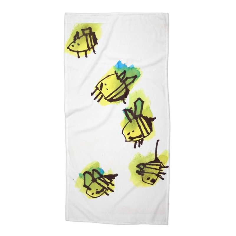 Peter's Bees Accessories Beach Towel by ukuleleabe's Artist Shop