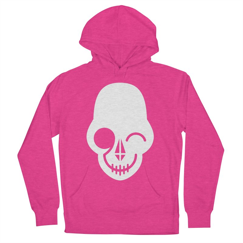 Flirting with danger (white print) Women's Pullover Hoody by PAPKOK