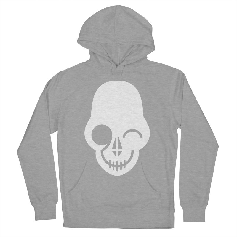 Flirting with danger (white print) Men's Pullover Hoody by PAPKOK