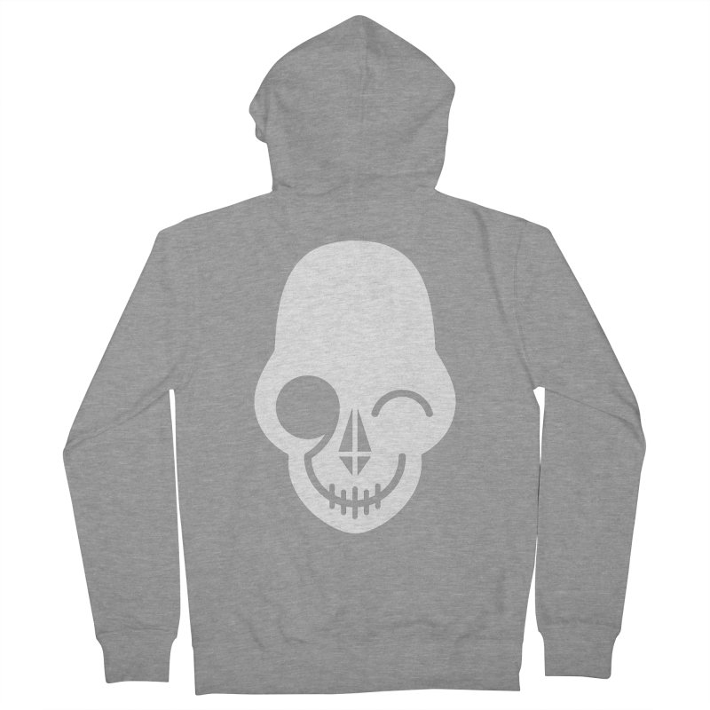 Flirting with danger (white print) Men's Zip-Up Hoody by PAPKOK