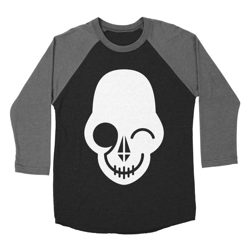 Flirting with danger (white print) Men's Baseball Triblend T-Shirt by PAPKOK