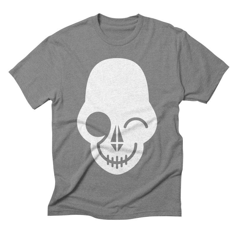 Flirting with danger (white print) Men's Triblend T-shirt by PAPKOK