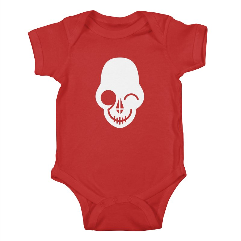 Flirting with danger (white print) Kids Baby Bodysuit by PAPKOK