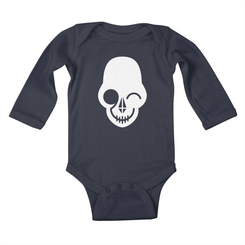 Flirting with danger (white print) Kids Baby Longsleeve Bodysuit by PAPKOK