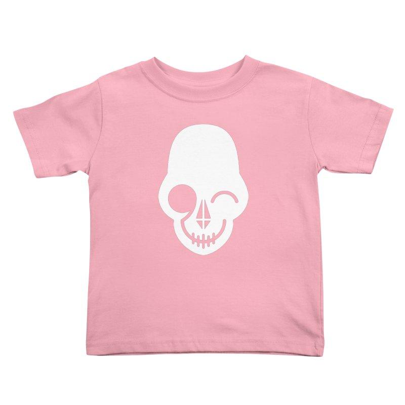 Flirting with danger (white print) Kids Toddler T-Shirt by PAPKOK