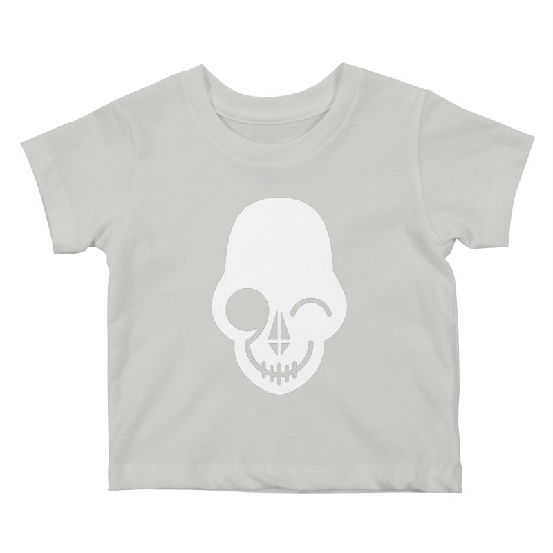 Flirting with danger (white print) Kids Baby T-Shirt by PAPKOK
