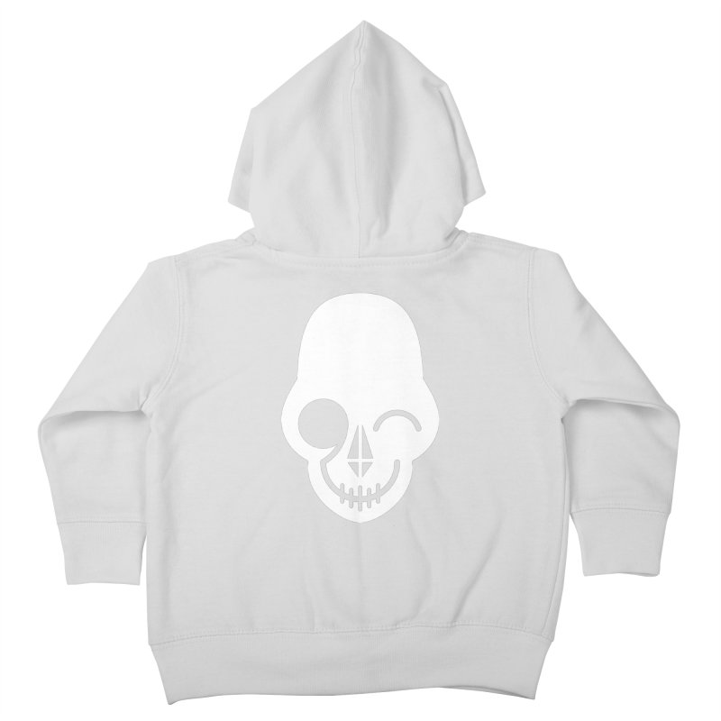 Flirting with danger (white print) Kids Toddler Zip-Up Hoody by PAPKOK