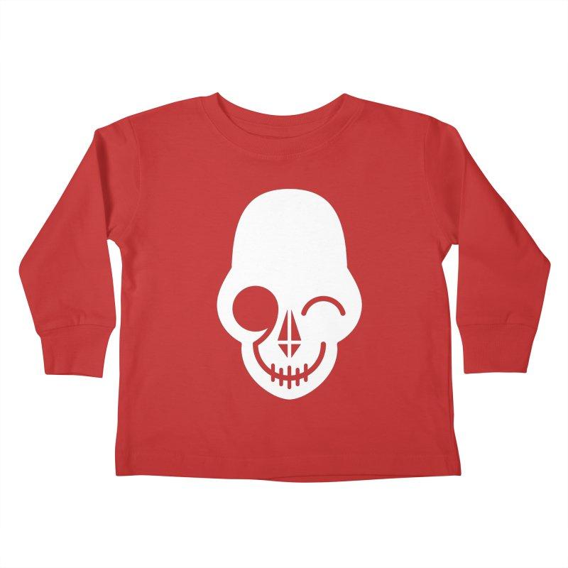 Flirting with danger (white print) Kids Toddler Longsleeve T-Shirt by PAPKOK