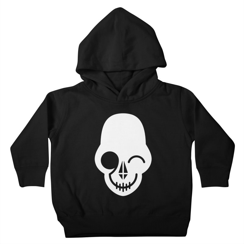 Flirting with danger (white print) Kids Toddler Pullover Hoody by PAPKOK