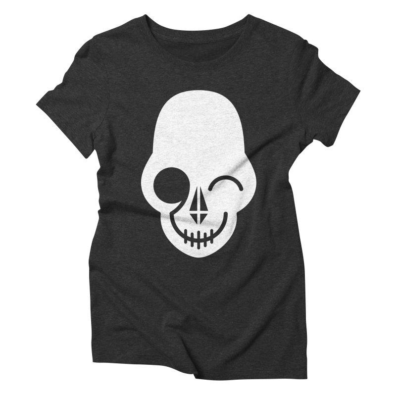 Flirting with danger (white print) Women's Triblend T-Shirt by PAPKOK