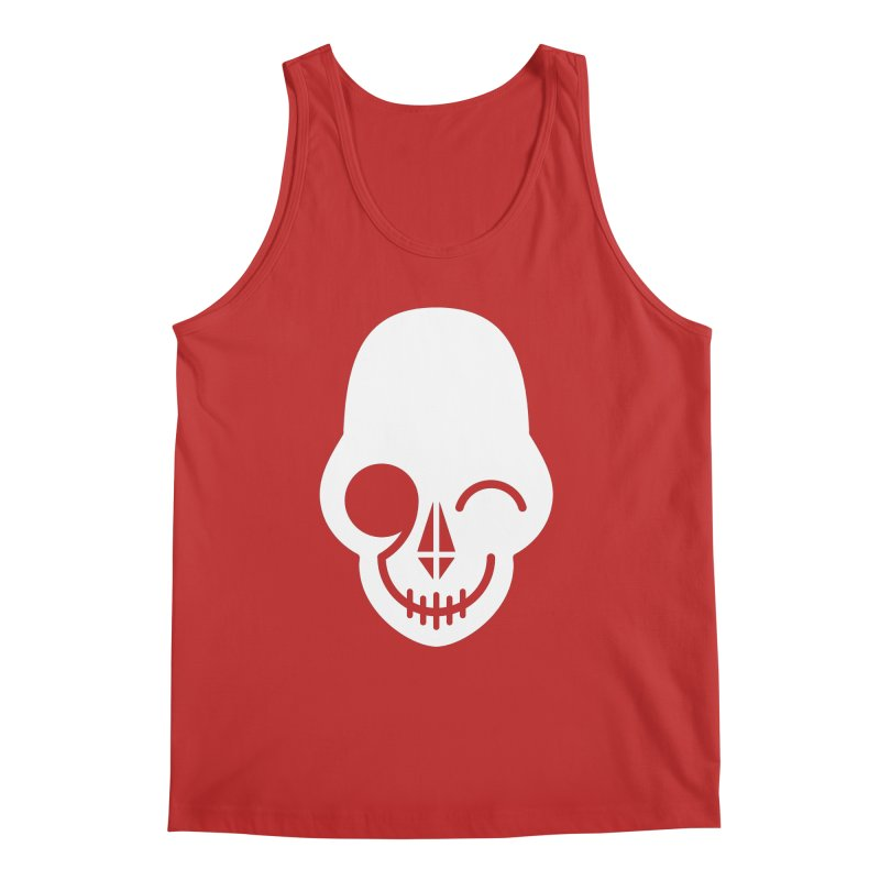Flirting with danger (white print) Men's Tank by PAPKOK