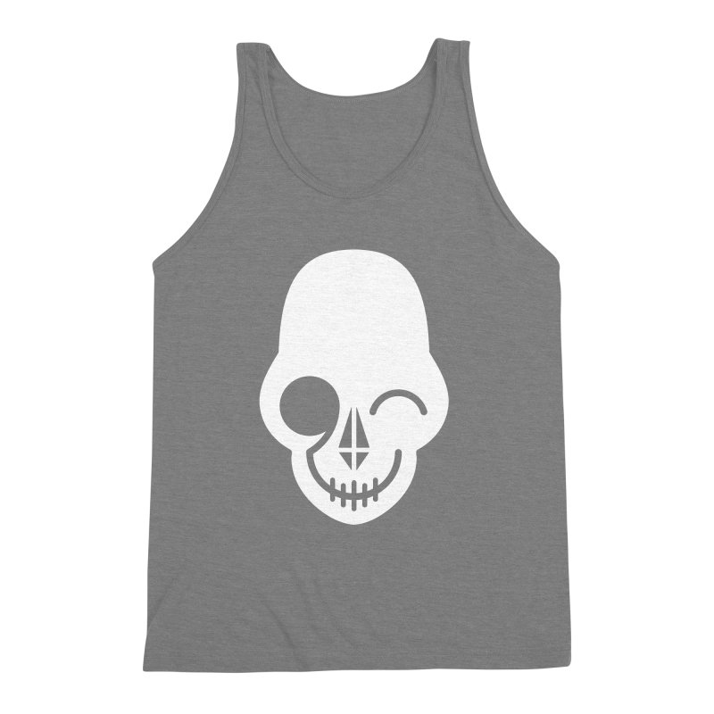 Flirting with danger (white print) Men's Triblend Tank by PAPKOK