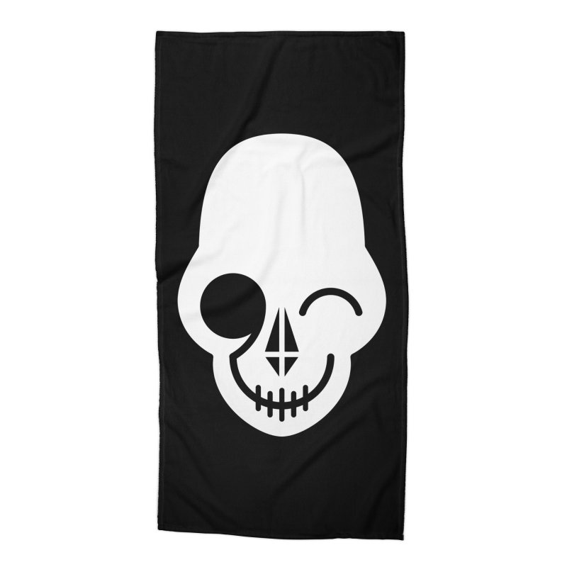Flirting with danger (white print) Accessories Beach Towel by PAPKOK