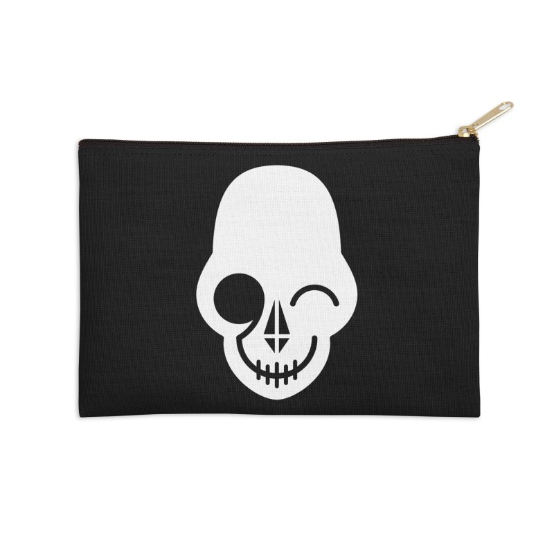 Flirting with danger (white print) Accessories Zip Pouch by PAPKOK