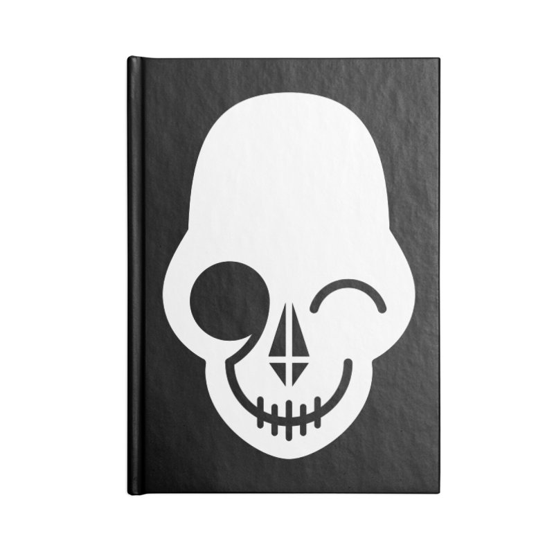 Flirting with danger (white print) Accessories Notebook by PAPKOK