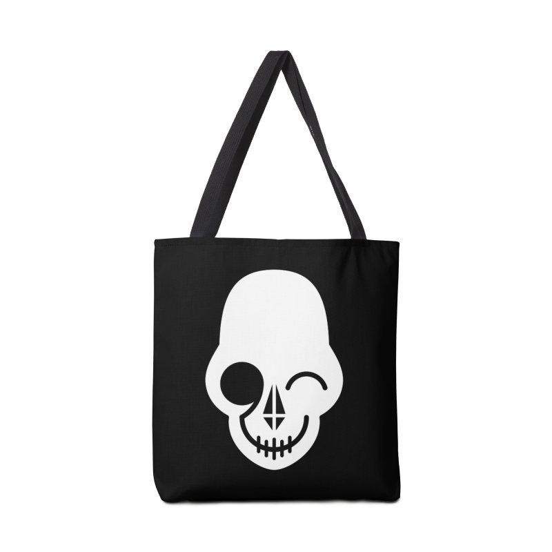 Flirting with danger (white print) Accessories Bag by PAPKOK