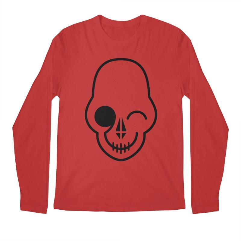 Flirting with danger (black print) Men's Longsleeve T-Shirt by PAPKOK