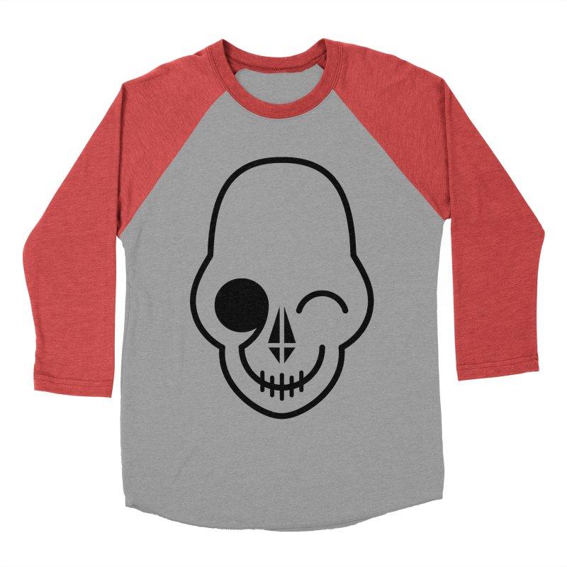 Flirting with danger (black print) Women's Baseball Triblend T-Shirt by PAPKOK