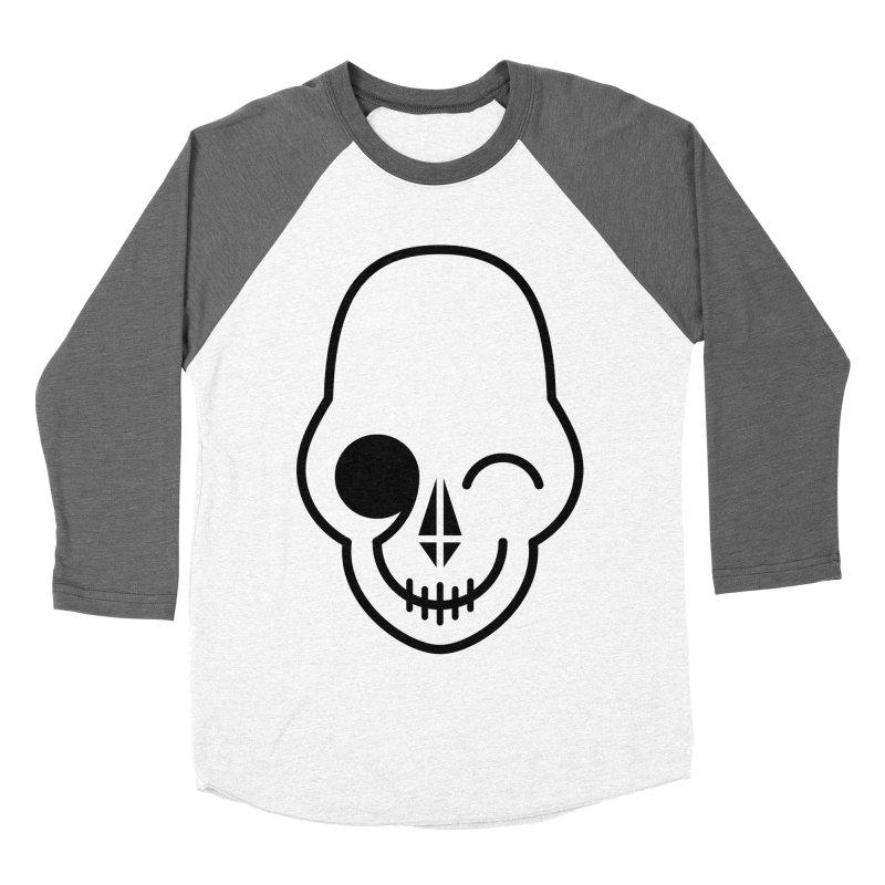 Flirting with danger (black print) Men's Baseball Triblend T-Shirt by PAPKOK