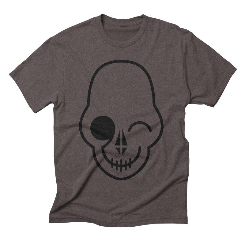 Flirting with danger (black print) Men's Triblend T-shirt by PAPKOK