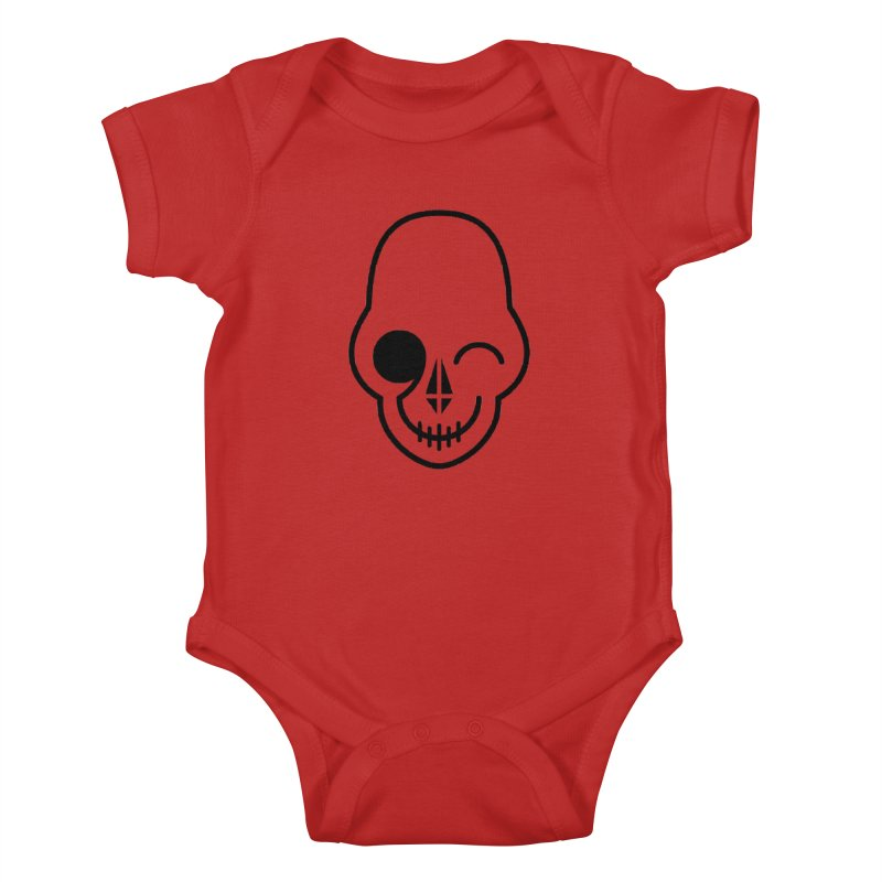 Flirting with danger (black print) Kids Baby Bodysuit by PAPKOK