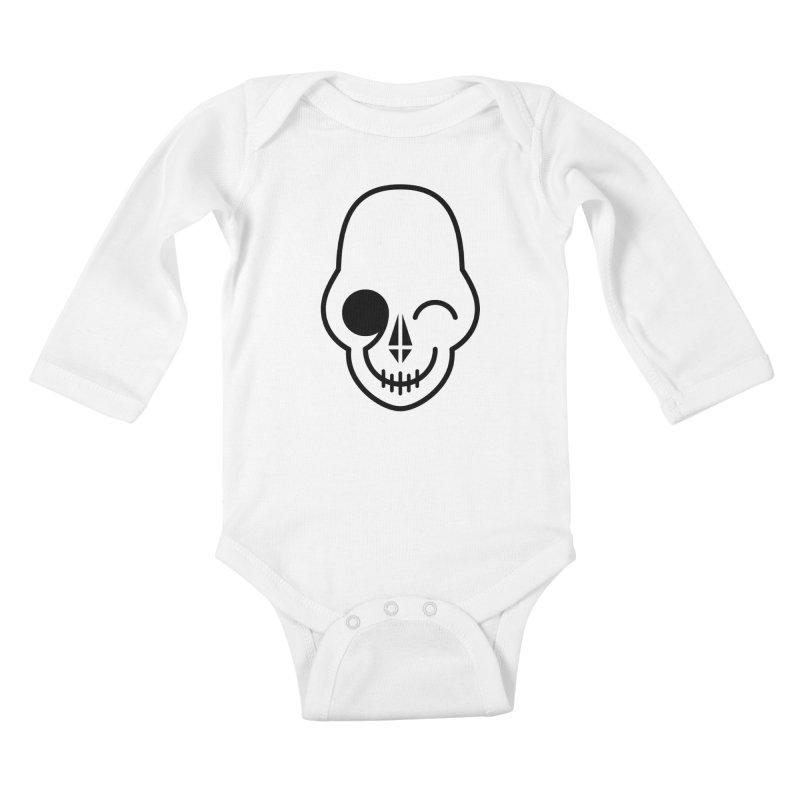 Flirting with danger (black print) Kids Baby Longsleeve Bodysuit by PAPKOK