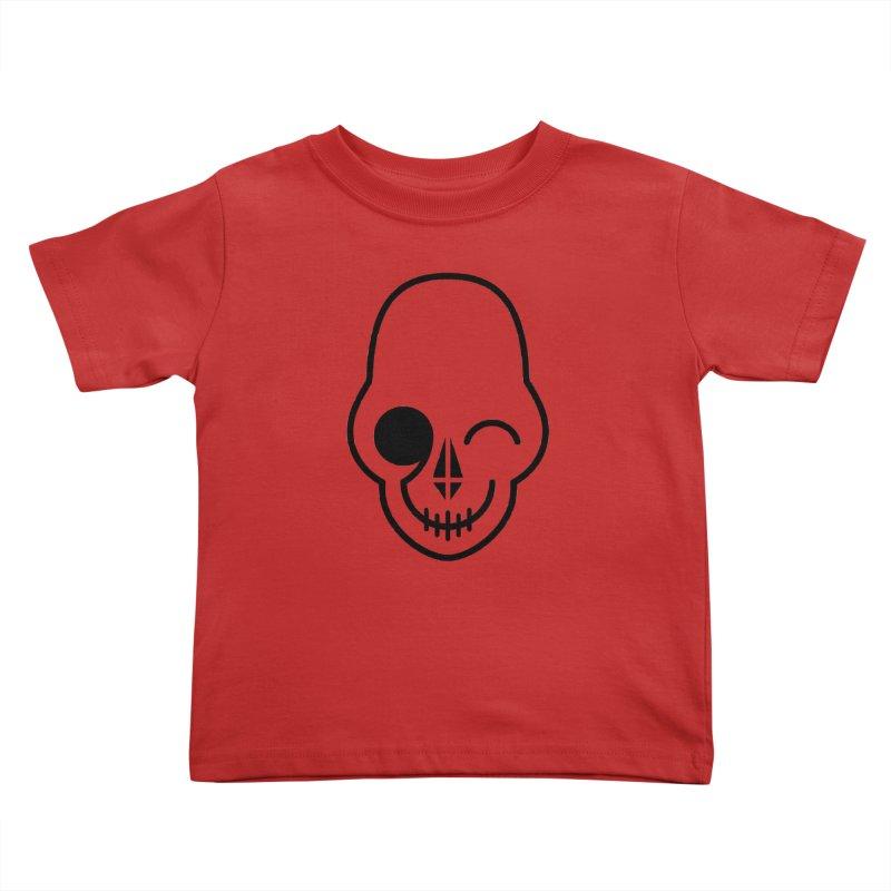 Flirting with danger (black print) Kids Toddler T-Shirt by PAPKOK
