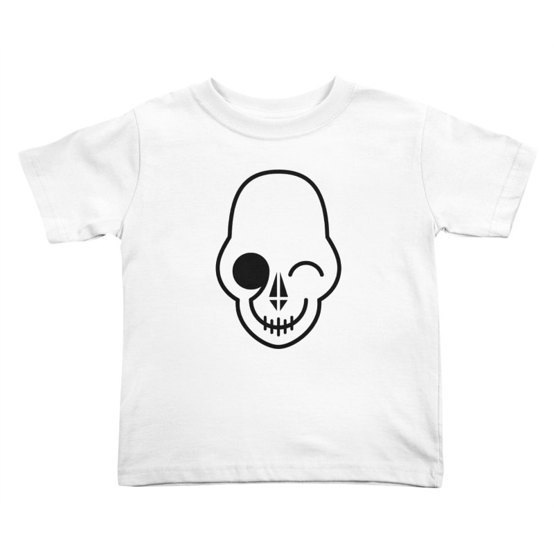 Flirting with danger (black print) Kids Toddler T-Shirt by PAPKOK