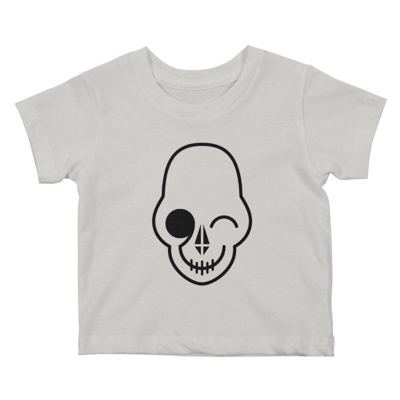 Flirting with danger (black print) Kids Baby T-Shirt by PAPKOK